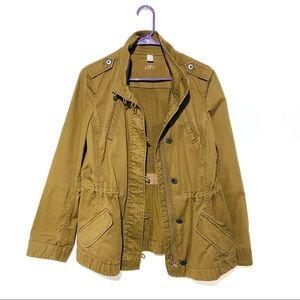Ann Taylor Loft military style jacket brown button